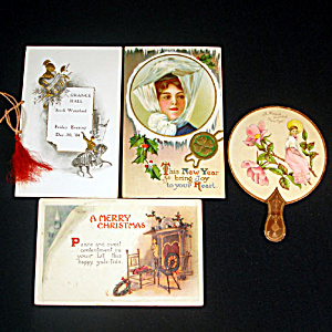 Victorian New Years, Christmas Postcards and Paper Items (Image1)