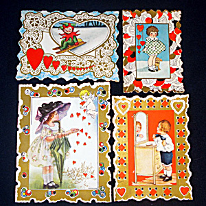 Four Whitney Circa 1920 Valentine Cards (Image1)