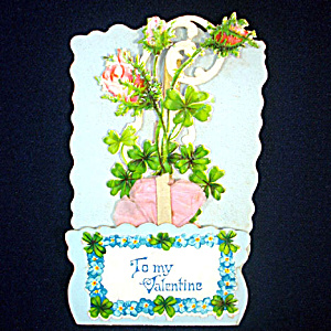 Pop Up Tissue Rose Victorian Valentine (Image1)