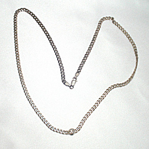 Italian Sterling Silver 20 Inch Chain Necklace