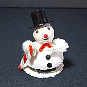 Composition Mica Snowman Christmas Putz Figure