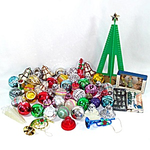 Lot 70 Vintage Bradford Plastic Christmas Ornaments Decorations