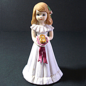 Enesco Growing Up Birthday Girl Figurine Age 8
