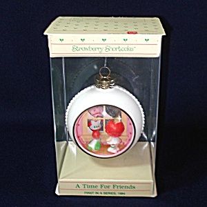 1984 Strawberry Shortcake Time For Friends Christmas Ornament Mib