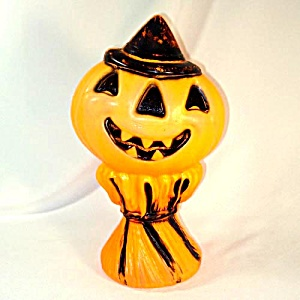 Jack O Lantern on Haystack Halloween Blow Mold Decoration (Image1)