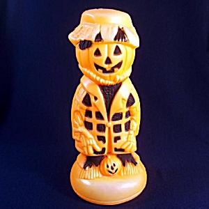 Scarecrow Pumpkin Man Halloween Blow Mold Decoration (Image1)