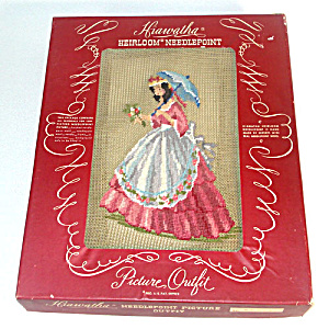 1941 Hiawatha Southern Belle Lady Boxed Needlepoint Kit (Image1)