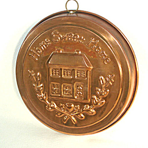 Round Copper Home Sweet Home Shortbread Mold (Image1)