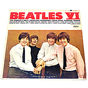 Beatles VI LP Vinyl Record Album Mono (Image1)
