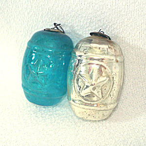 1920 Japan Kugel Style Glass Feather Tree Christmas Ornaments (Image1)
