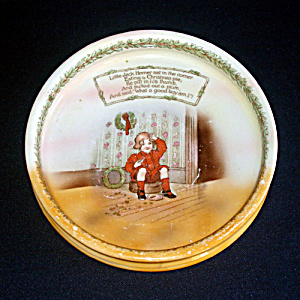 Royal Bayreuth Jack Horner Nursery Rhyme Baby Child Feeding Dish (Image1)