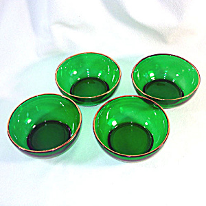 Anchor Hocking Forest Green Cereal or Chili Bowls Set of 4 (Image1)