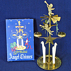 Box Swedish Brass Christmas Angel And Party Candle Chimes