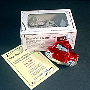 Inge Glass 1983 Car Automobile Christmas Ornament Mint in Box (Image1)