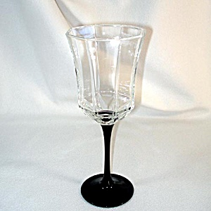 Octime Luminarc France Black Stemmed Water Goblet, 5 Available