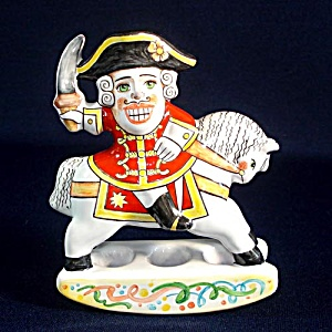 George Washington On Rocking Horse Russian Pottery Figurine