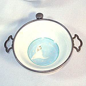 Baby in Moon Antique Child's Feeding Bowl Dish (Image1)