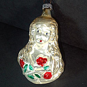 Inge 1982 Angel With Roses Christmas Ornament Mint in Box (Image1)
