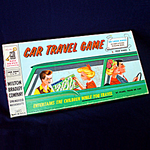 Milton Bradley 1958 Car Travel Board Game