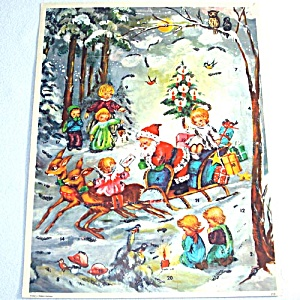 Santa With Children Western Germany Christmas Advent Calendar (Image1)