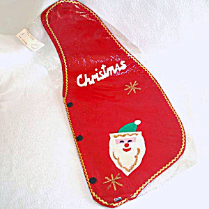 1960s Japan Felt Merry Christmas Santa Vest Mint in Package (Image1)