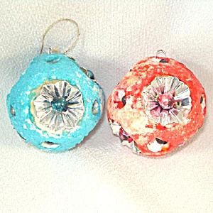 Retro Japan Composition, Foil, and Bead 1950s Christmas Ornaments (Image1)