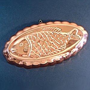 Oval Flounder Fish Copper Kitchen Mold (Image1)