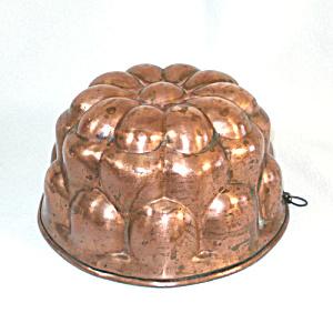 Bubble Flower Antique Copper Jelly Mold (Image1)