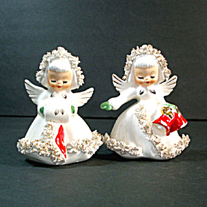 Holt Howard Ermine Angel Christmas Salt Pepper Shakers (Image1)