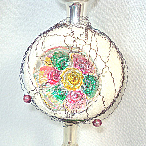 Wire Wrapped Indent Spire Glass Christmas Tree Topper (Image1)