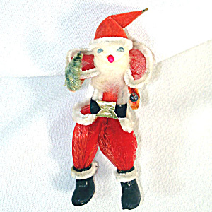 Chiffon Spun Cotton Chenille Japan Santa Christmas Ornament (Image1)