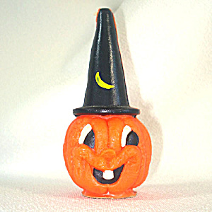 Gurley Jack O Lantern In Witch Hat Halloween Candle