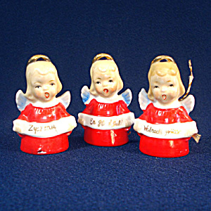 Ardalt Porcelain Angel Bell Christmas Ornaments International Greetings (Image1)