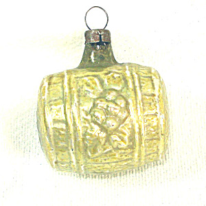 1920s Feather Tree Wine Casket Barrel Glass Christmas Ornament (Image1)
