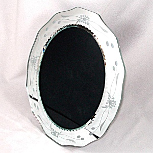 Mirrored Oval Picture Frame 9 By 7 Inch Opening