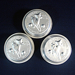 3 Individual Rudolph The Reindeer Christmas Cake Pans