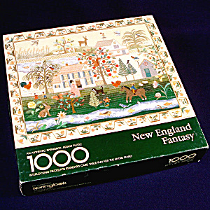 New England Fantasy Springbok 1000 Piece Jigsaw Puzzle Embroidered Sampler