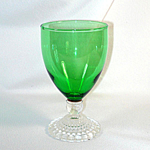 Anchor Hocking Forest Green Bubble Berwick Water Goblet 11 Available