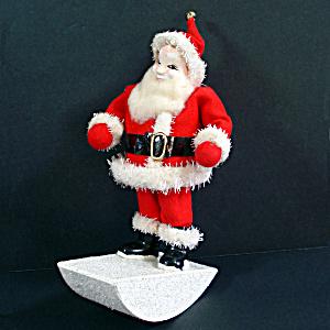 Composition Rocking Santa Claus Christmas Figure (Image1)