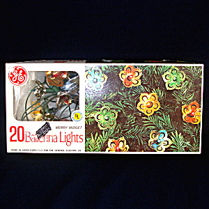 Box 1960s Ge Merry Midget Ballerina Christmas Lights