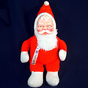 1950s Soft Plush Vinyl Face Musical Santa Claus Christmas Doll (Image1)