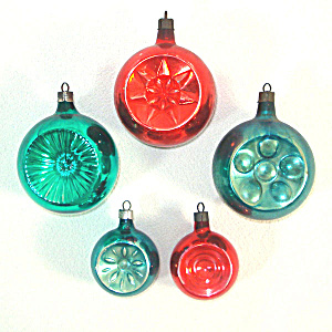 1930s Premier Glass Double Indent Christmas Ornaments (Image1)