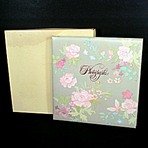 Hallmark 1983 Floral Photograph Album With Box