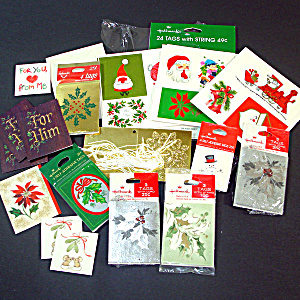 Assortment Sealed And Loose Hallmark Christmas Tags Gift Cards