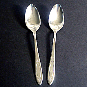 Adam Oneida Community 2 Silverplate Tablespoons Place Spoons (Image1)