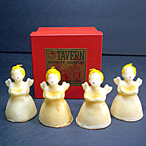 Box Tavern 1940s Christmas Angel Figural Candles (Image1)