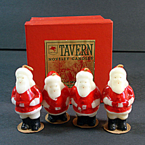 Tavern 1940s Christmas Santa Claus Candles in Original Box (Image1)