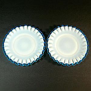 Fenton Aqua Crest 2 Bread or Dessert Plates (Image1)