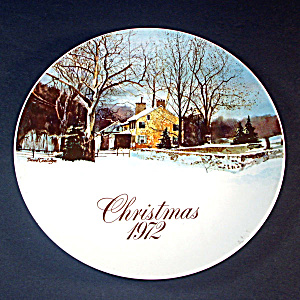 1972 Smuckers Christmas Collector Plate, 1st In Series