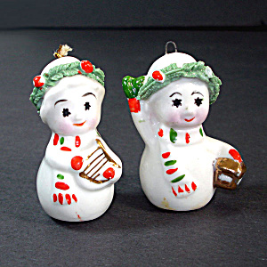 Napco Mini Bone China Starry Eye Christmas Snowman Ornaments (Image1)